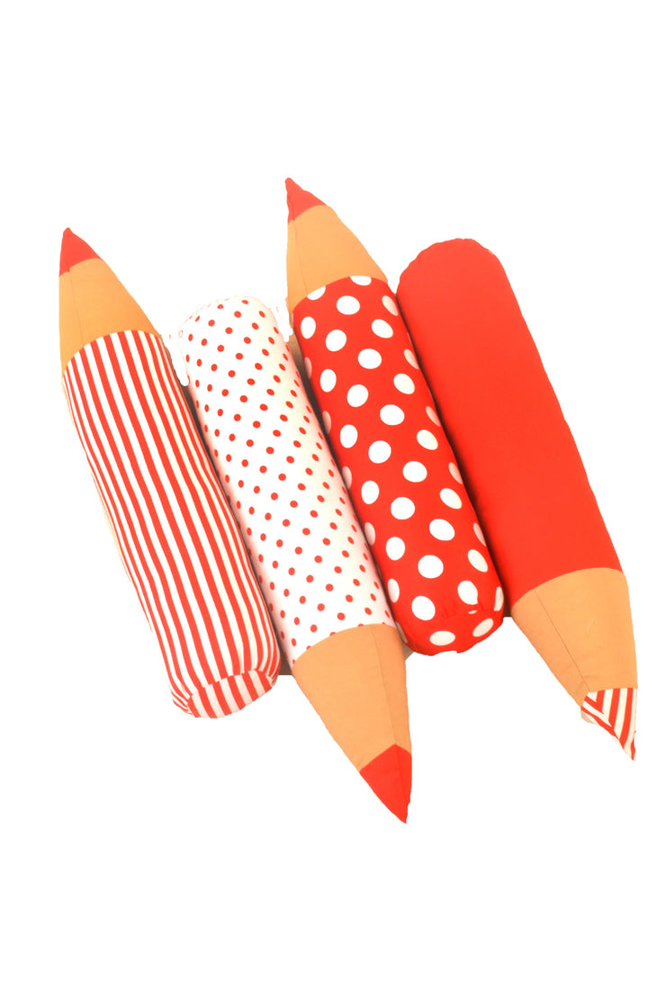 Plush Red Pencil Cushion for Kids