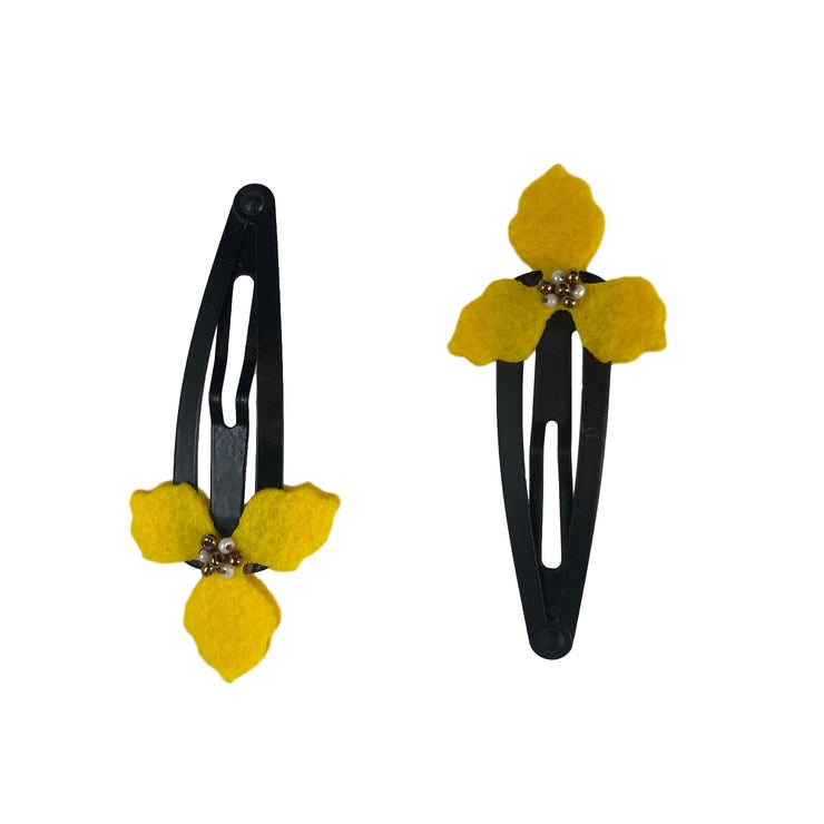 Clover  Flower Yellow Clips