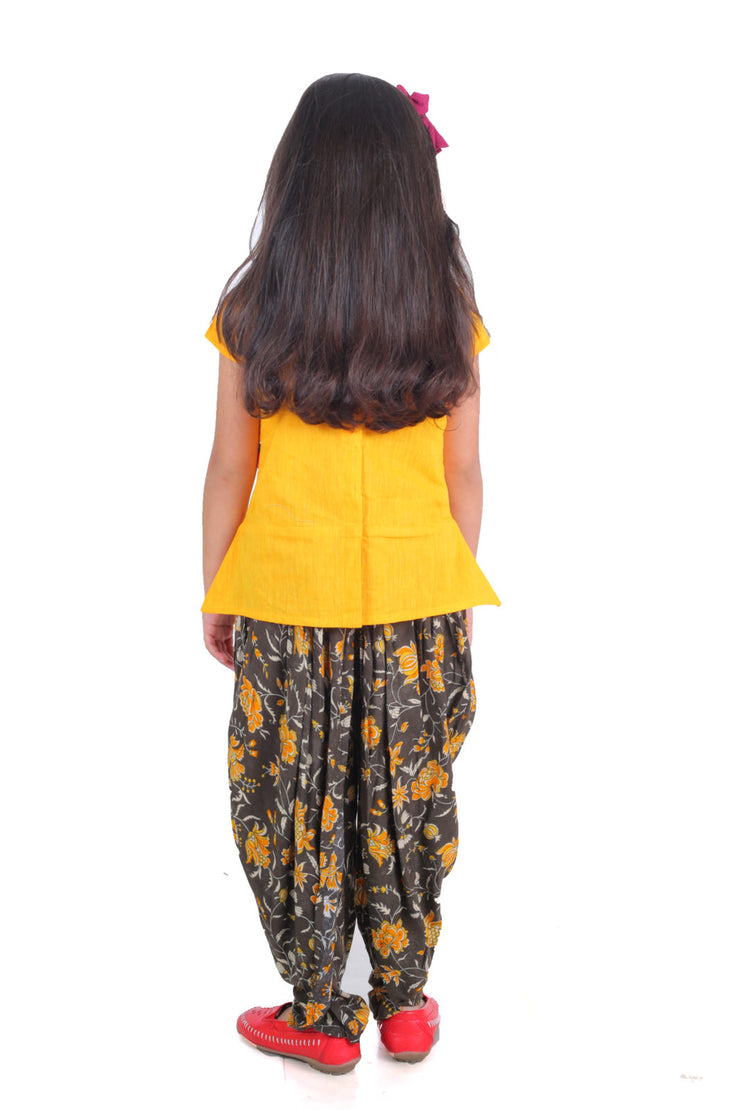 PRINTED DHOTI SET