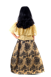 Beige and Golden Lehenga Set