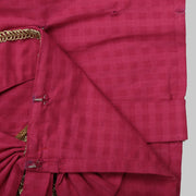 Pink Cotton Blouse and Blue Ghaghra