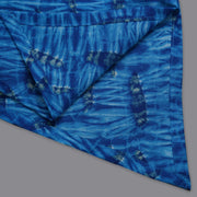 Blue Shibori Cotton Top, Pant and Dupatta set