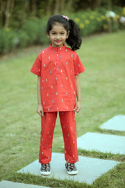 Red Nightwear Set for Kids