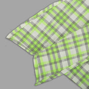 Neon Green Cotton Shirt For Boys With Asymmetrical Hemline