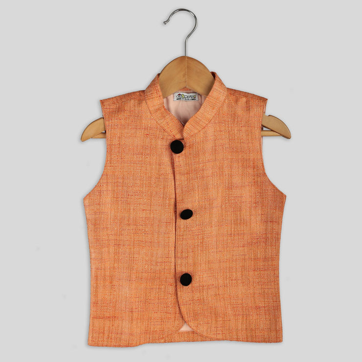 Smart Saffron Fancy Waist Coat