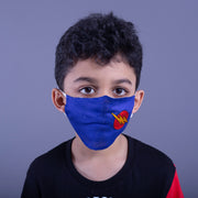 Re-usable Kids Mask With Embroidered Motif