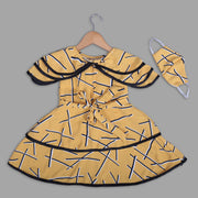 Yellow Skater Frock For Girls With Flares