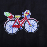 Black Cotton Shirt For Boys With Cycle Motif