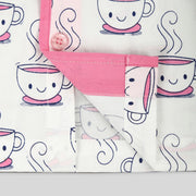 Cup and Saucer Print Nightwear For Girls