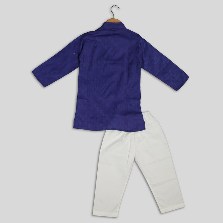Purple Kurta and Pyjama Set for Kids