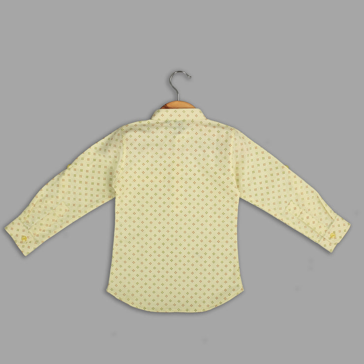 Yellow Cotton Shirt For Boys