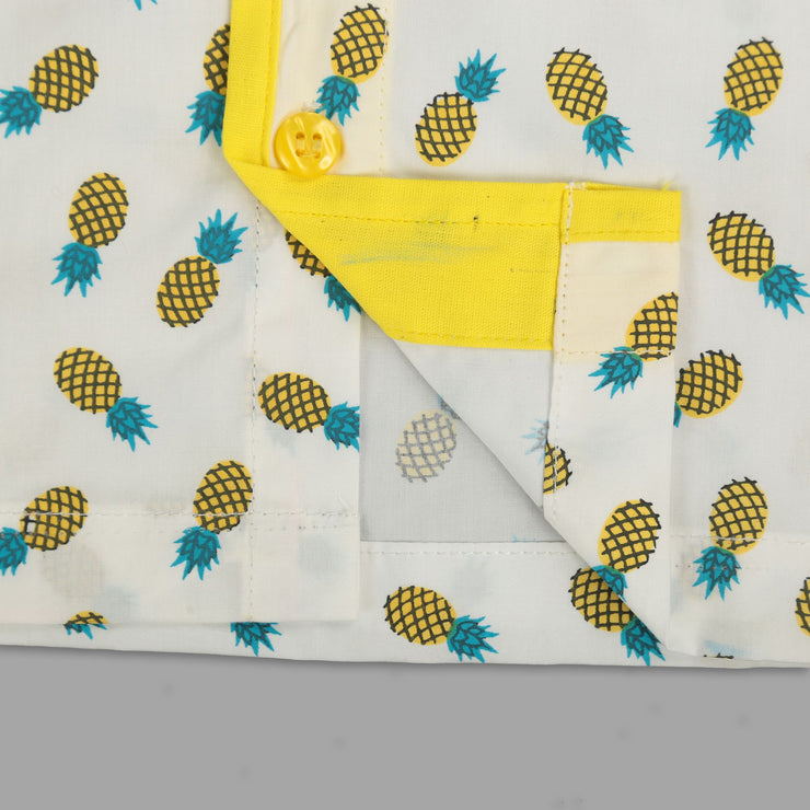 Pineapple Print Unisex Nightwear
