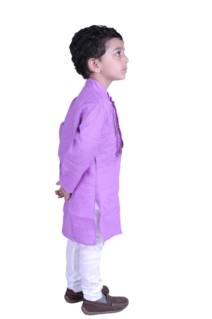 Purple Slurple Kurta Pyjama Set for Boys
