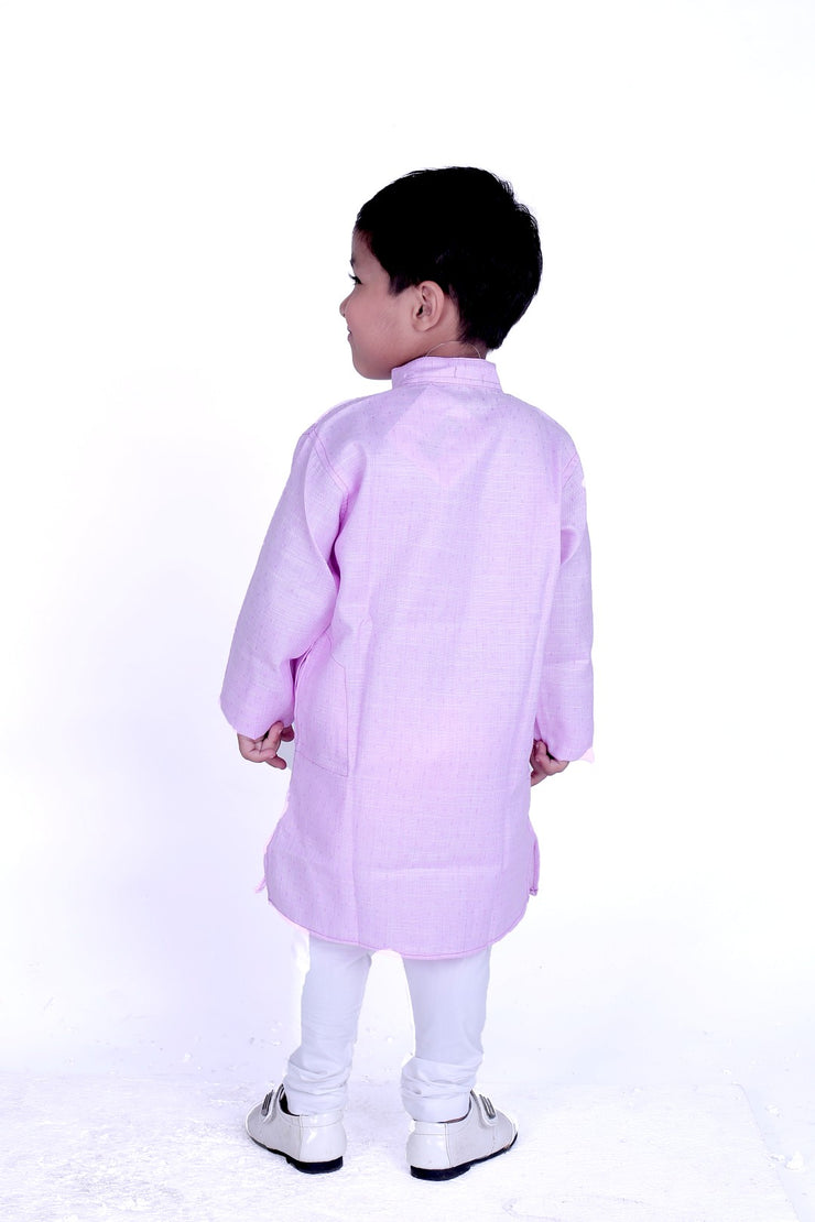 Mauve Kurta Pyjama Set for Boys