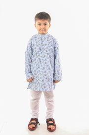 Artsy Blue Ethnic Kurta Pyjama Set For Boys