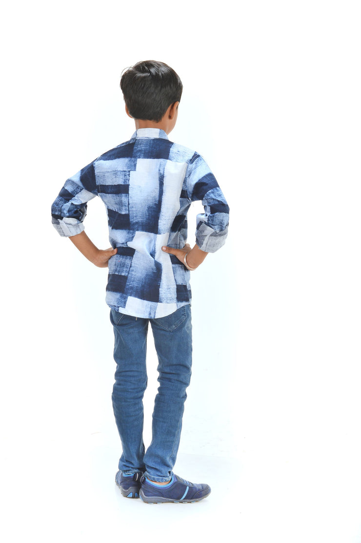 Cool Blue, Boy's Kurta Shirt