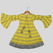 Yellow Rayon Casual Frock for Girls