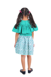 The Teal Dolphin Print Casual Frock