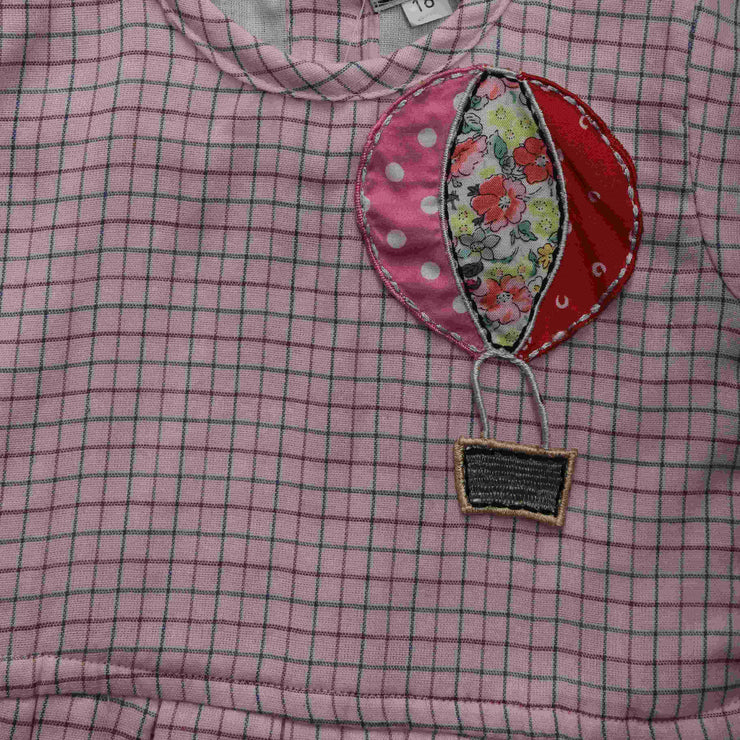 Pink Cotton Hot Air Balloon Top with  Cotton Trousers