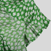 Printed Green Cotton Skater Frock For Girls