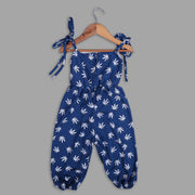 Blue Fancy Jumpsuit For Girls