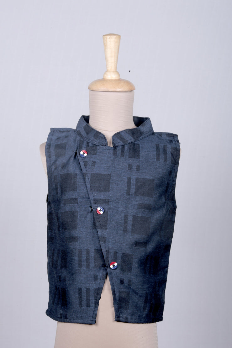 Deep Blue Boy's Waist Coat