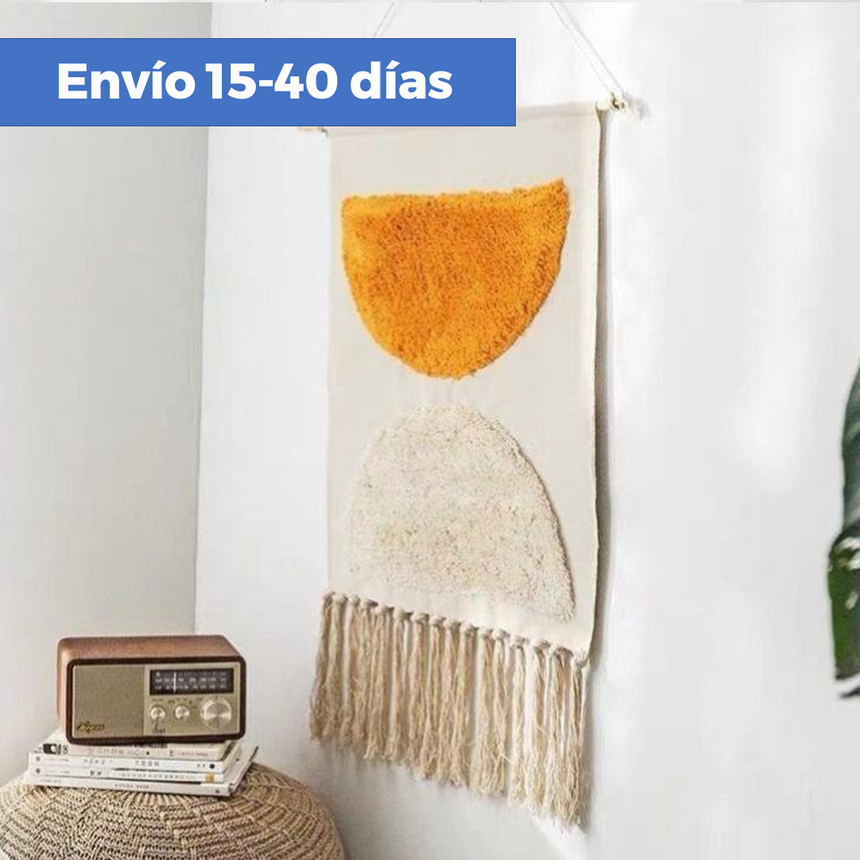 Tapices decorativos de pared con flecos