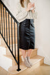 'Jordan' Pleather Skirt in Black