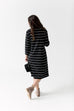 'Shelby' Striped Turtleneck Dress in Black