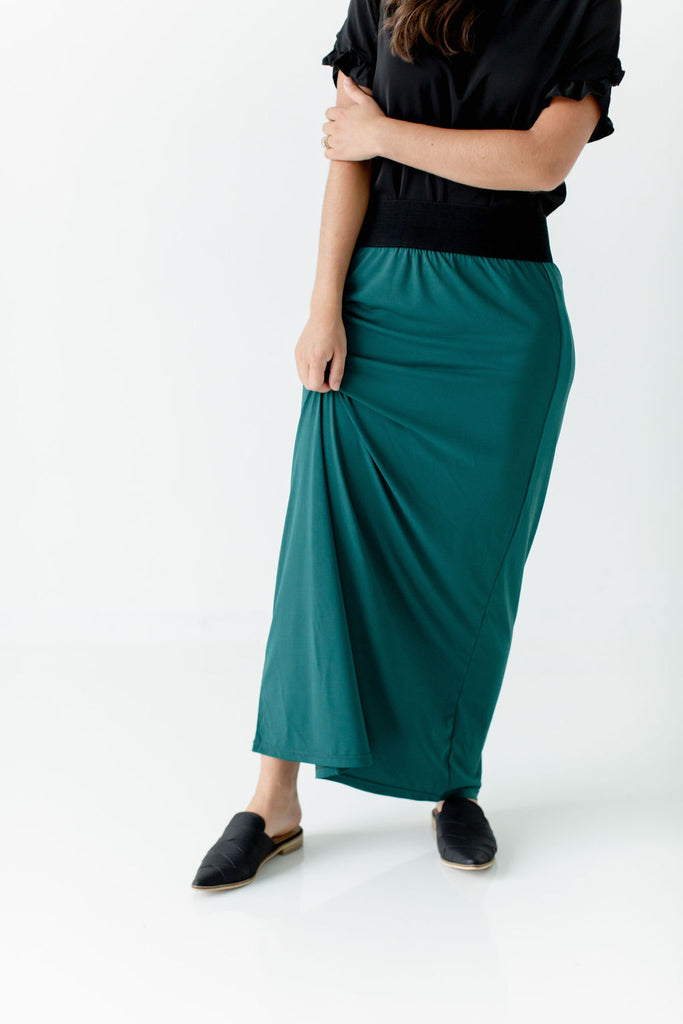 'Claire' Skirt in Jade