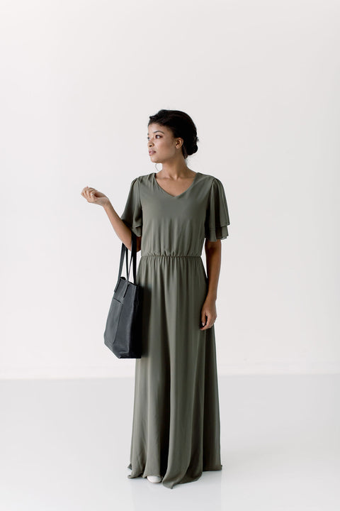 'Kathryn' Dress in Olive