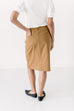 'Leah' Denim Skirt in Camel