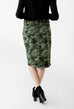 'Aspen' Camo Knee Length Skirt