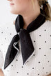 Scallop Stitch Neck Scarf in Black