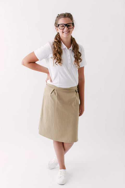 'Remy' Girl School Uniform Skort