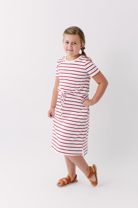'Shayla' Girl Striped Dress