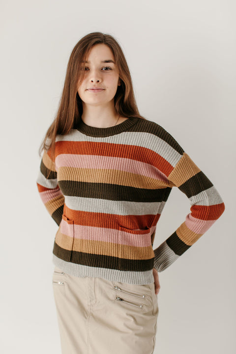 'Ellie' Multi Stripe Sweater