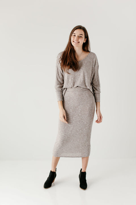 'Eileen' Ribbed Sweater Set
