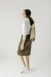 'Leah' Denim Skirt in Muted Olive