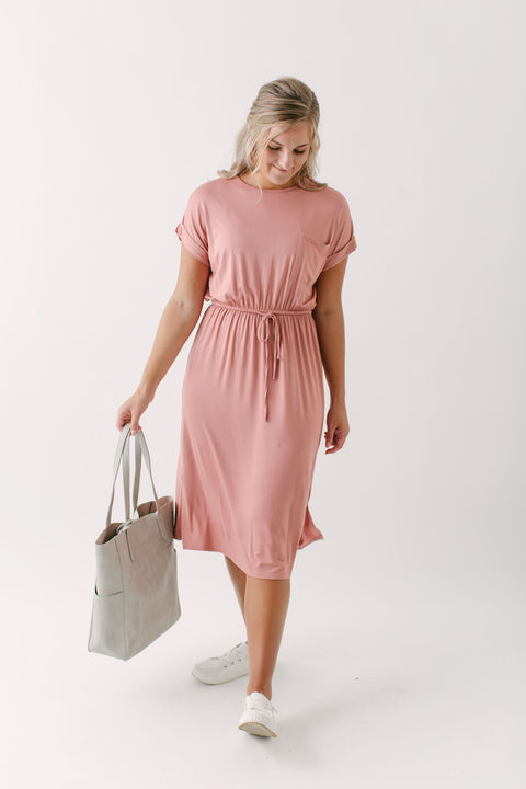 """Lucy"" Everyday Dress in Salmon"