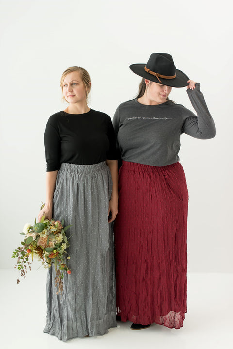 'Darcy' Swiss Dot Maxi Skirt