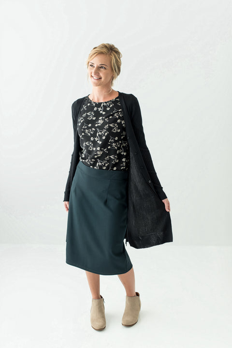 'Anna' Skirt in Forest Green