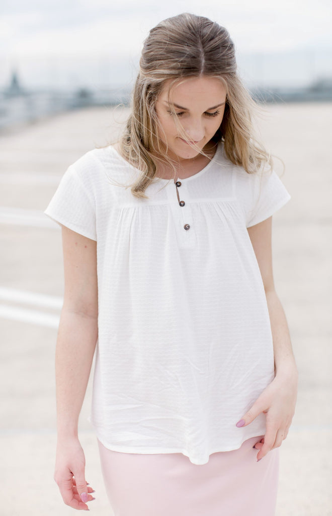 Waverly Cap Sleeve Top in White