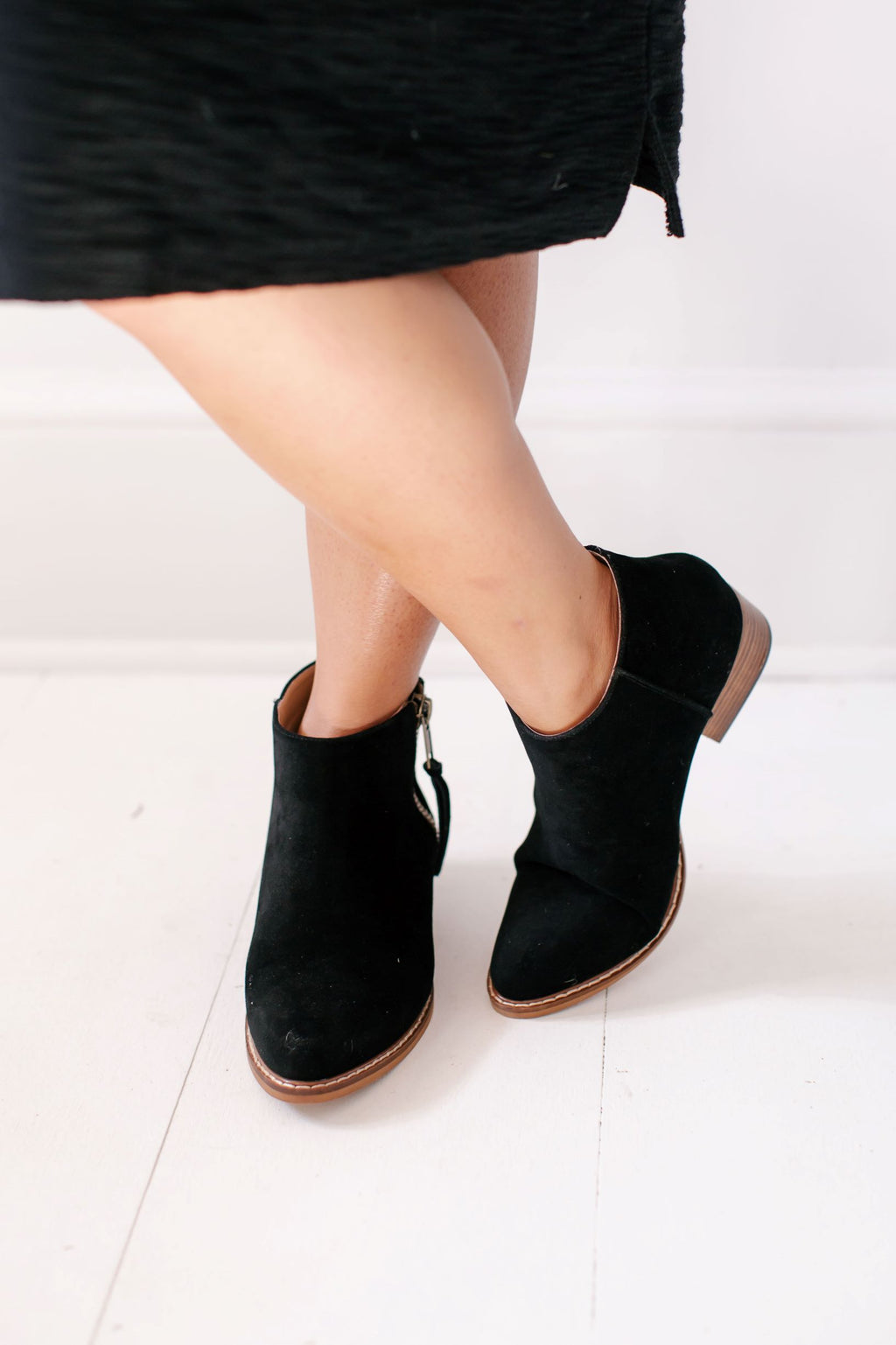 'Edison' Suede Ankle Boots in Black