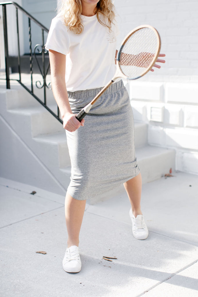 'Alexa' Skort in Heather Grey
