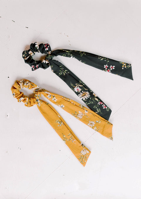 Floral Ponytail Scarf Scrunchies