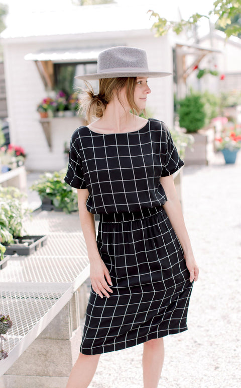 'Danielle' Windowpane Dress