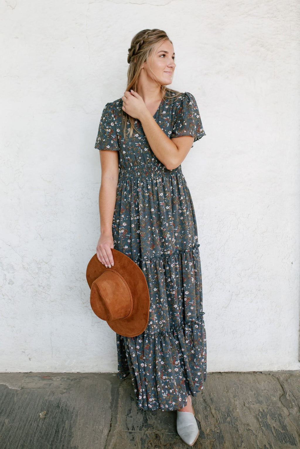'Elizabeth' Maxi Dress in Jasper Floral