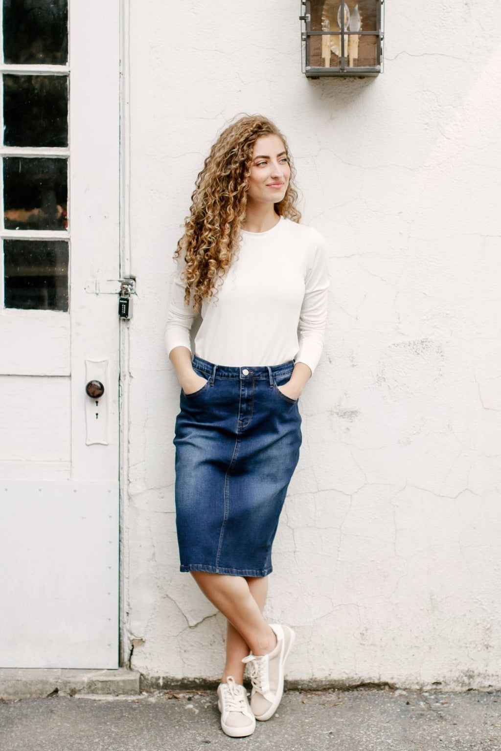 'Wren' Classic Denim Skirt