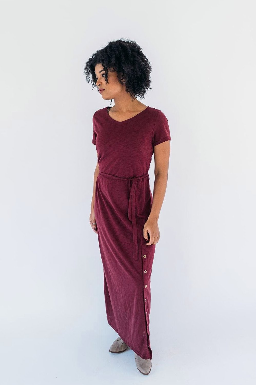 'Christina' Dress in Wine